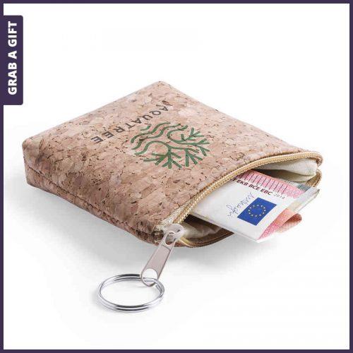 Grab a Gift - Kurken portemonnee bedrukken als relatiegeschenk