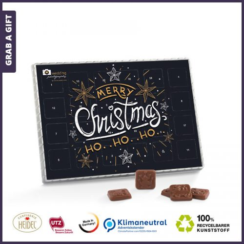 Grab a Gift - Advent Premium Tafelkalender bedrukken met logo en reclame