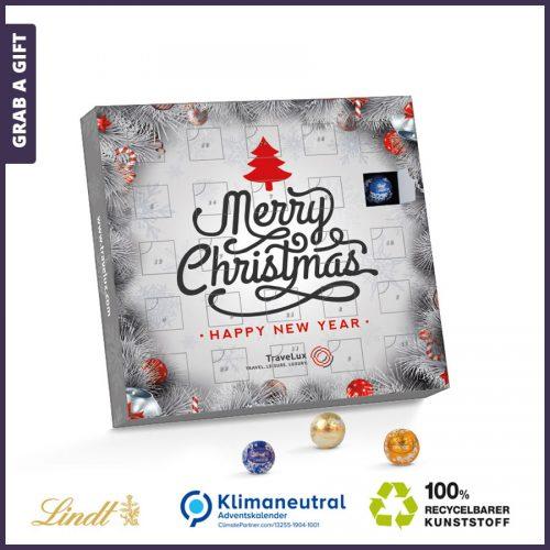 Grab a Gift - Adventskalender lindt minikogels bedrukken met jouw logo