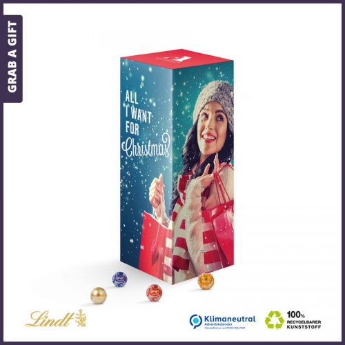 Grab a Gift - Adventstoren met lindor minikogels Full Colour bedrukken
