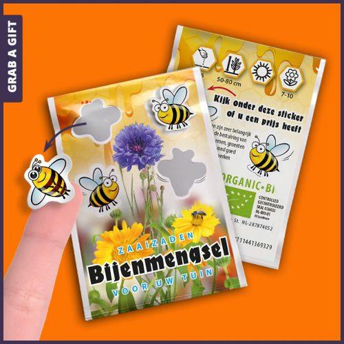 Grab a Gift - Zaadzakjes met stickertjesFull Colour bedrukken met logo en reclame