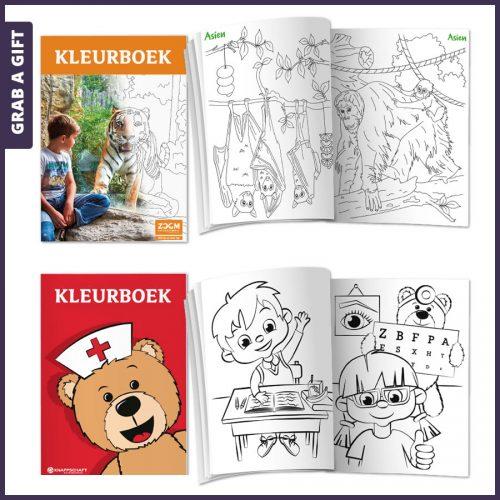 Grab a Gift - Kleurboeken bedrukken met logo of eigen Full Colour kaft