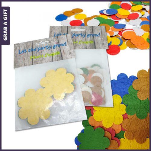 Grab a Gift - Kopkaartje bedrukken van zakje met zaadconfetti