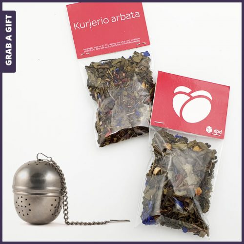 Grab a Gift - Kopkaartje van zakje bladthee bedrukken met logo