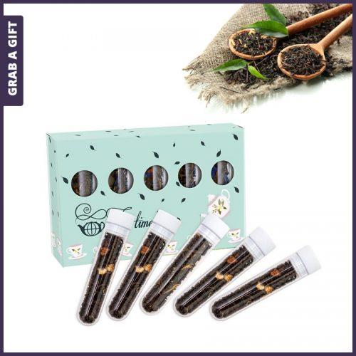 Grab a Gift - Mini-doosje met 5 theebuisjes bedrukken