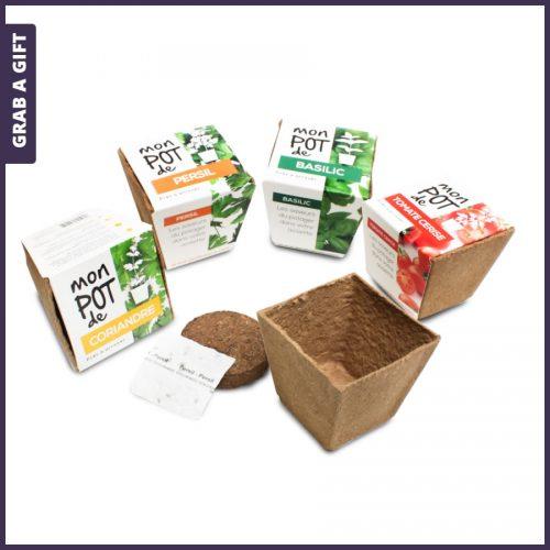 Grab a Gift - Wikkel bedrukken van milieuvriendelijk kweeksetje