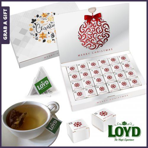 Grab a Gift - Adventskalender met piramide thee bedrukken als relatiegeschenk