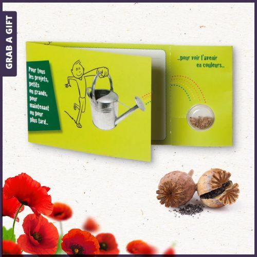 Grab a Gift - Blisterkaart met zaadjes bedrukken als relatiegeschenk