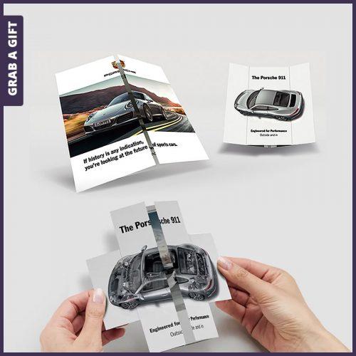 Grab a Gift - Eindeloze vouwkaart bedrukken als opvallende mailing