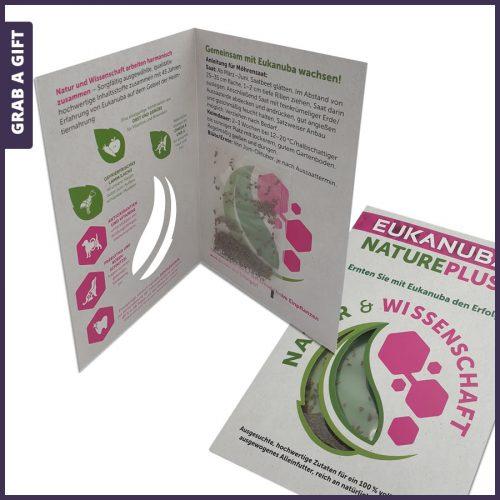 Grab a Gift - Zaad vensterkaart stansen en bedrukken