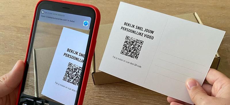 Grab a Gift - Kaarten bedrukken met een QR Code voor Persoonlijke Videoboodschap