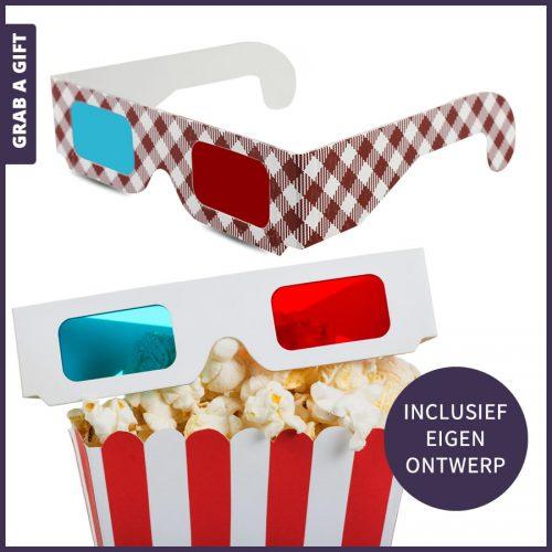 Grab a Gift - Kartonnen 3D brillen bedrukken met logo