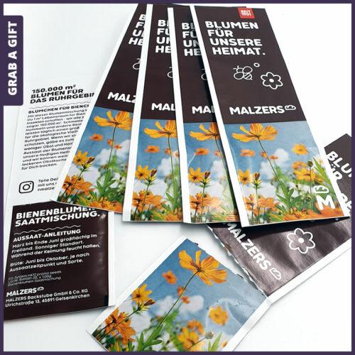Grab a Gift - Zaadzakje als boekenlegger bedrukken met logo en reclame