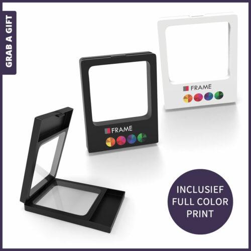 Grab a Gift - zwart of wit usd doosje frame met logo opdruk