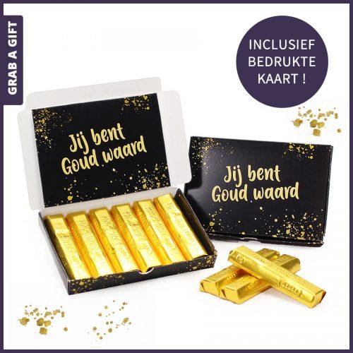 Grab a Gift - Brievenbusdoosje met chocoladegoudstaafjes