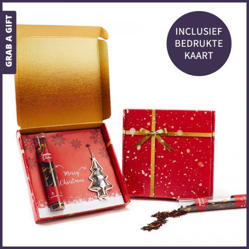 Grab a Gift - Kerst thee met kerstboom infuser in geschenk- of verzenddoosje
