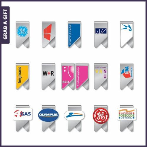 Grab a Gift WingClip - promotionele paperclips wingclips bedrukken met logo